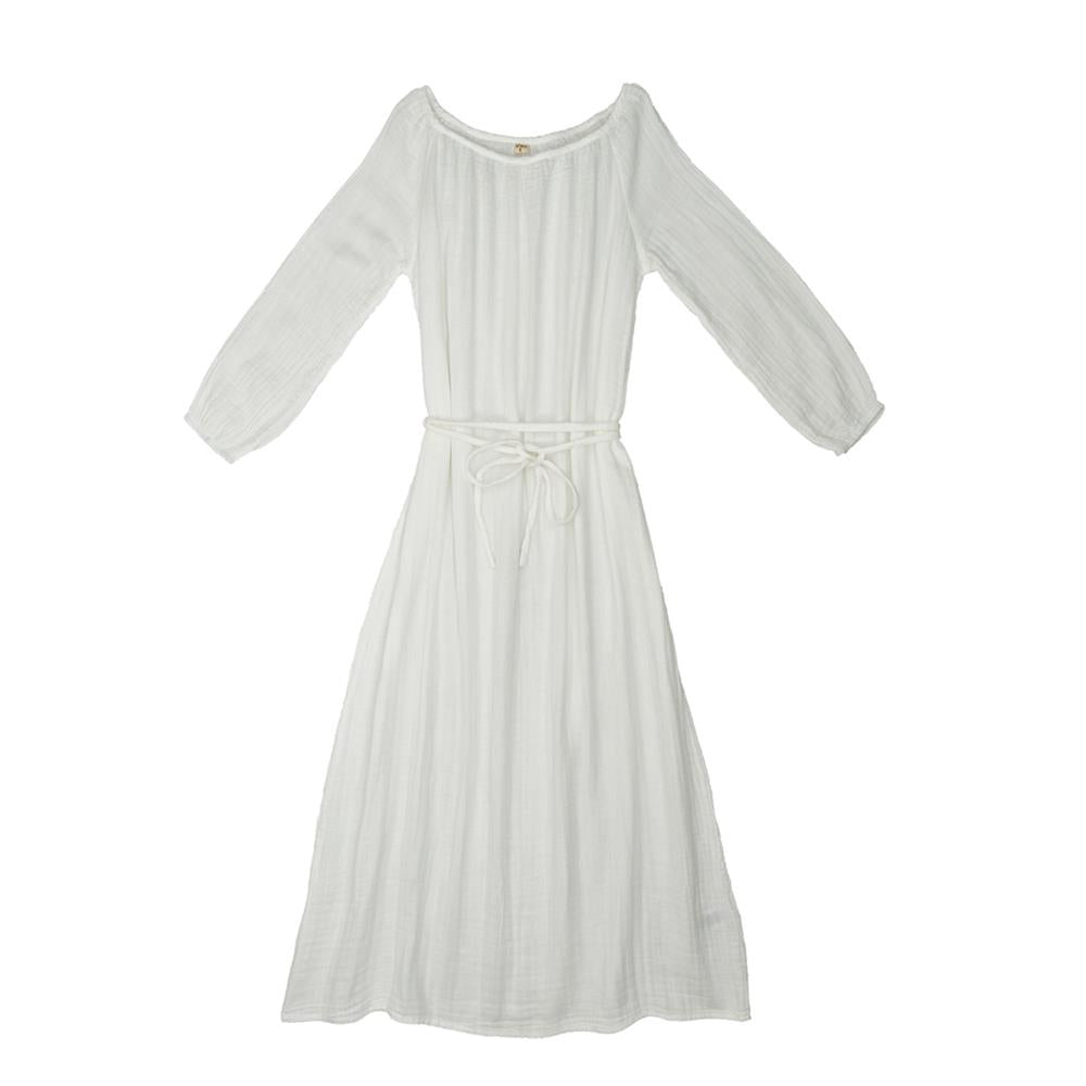 Poeme Lifestyle sells 100% organic cotton Nina long dress for mums by Numero 74 online in Australia as a timeless clothing. Available in a range of earthy colors.