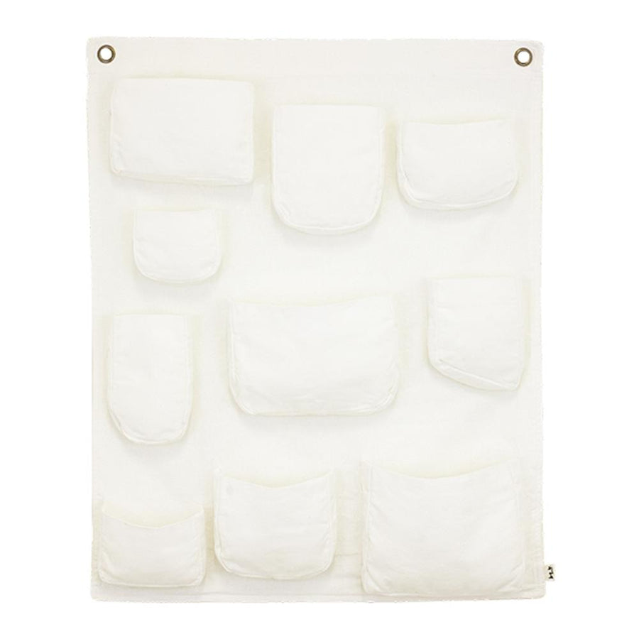 Poeme Lifestyle sells organic cotton wall pocket for kids' bedroom by Numero 74. Available in many earthy colors.