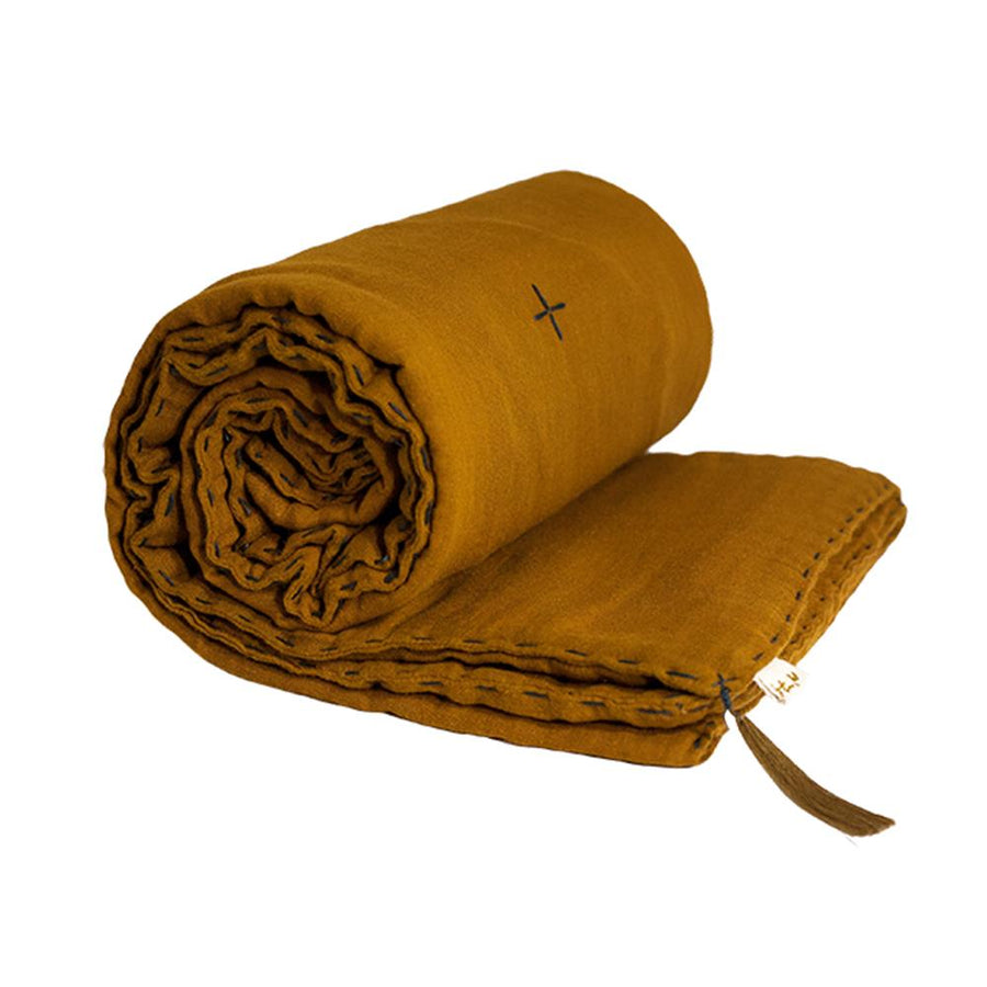 Cot Winter Blanket - Gold