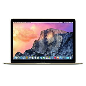 "Apple MacBook 12"" (Early 2016) Intel Core M5-6Y54 X2 1.2GHz 8GB 512GB, Gold (Scratch and Dent)"