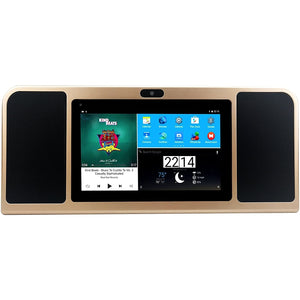 "Azpen A770 7"" Android Internet Radio Tablet w/Bluetooth Speakers, Gold"