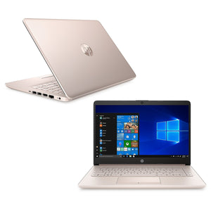 "HP Notebook 7MV73UA 14"" Touch 4GB 64GB Intel Pentium Gold 5405U, Rose Gold (Certified Refurbished)"