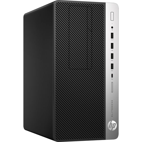 HP EliteDesk 705 G4 MicroTower 8GB 256GB SSD AMD Ryzen 3 PRO 2200G, Black (Certified Refurbished)