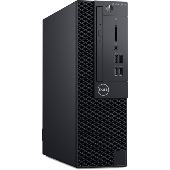 Dell Optiplex 3070 8GB 256GB SSD Intel Core i3-9100 X4 3.6GHz Win10, Black (Certified Refurbished)