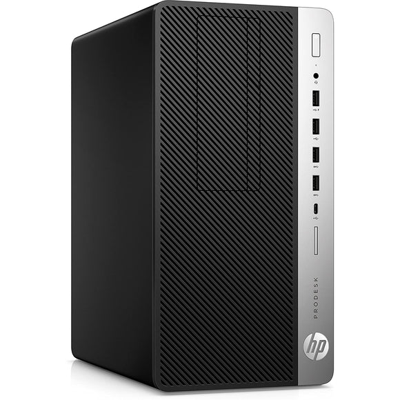 HP ProDesk 600 G4 MicroTower 8GB 1TB Intel Core i5-8600 X6 3.1GHz Win10, Black