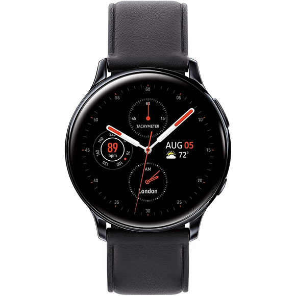 Samsung Galaxy Smart Watch (GPS + Cellular) 40mm Stainless Steel Case, Black