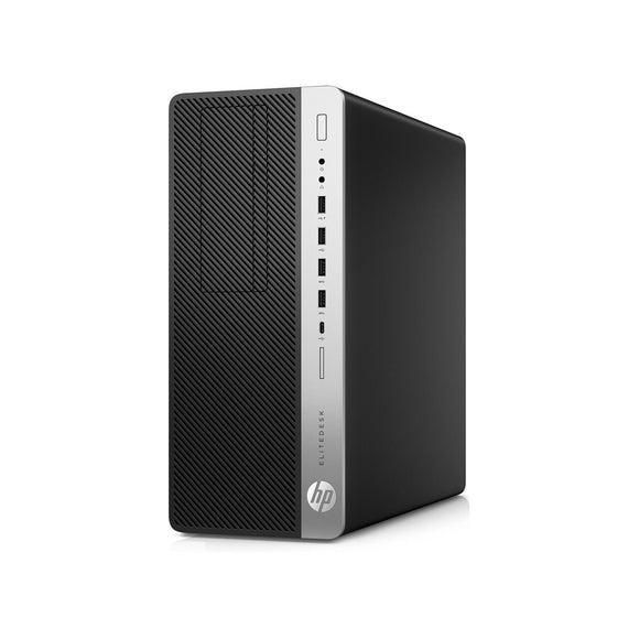HP EliteDesk 800 G4 Tower 8GB 256GB SSD Intel Core i5-8500 X6 3GHz, Black (Certified Refurbished)