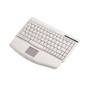 SolidTek KB-540U USB Wired Mini Keyboard with Built-in TouchPad, Beige
