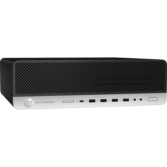 HP EliteDesk 800 G4 SFF 8GB 500GB Intel Core i5-8500 X6 3GHz Win10, Black (Certified Refurbished)