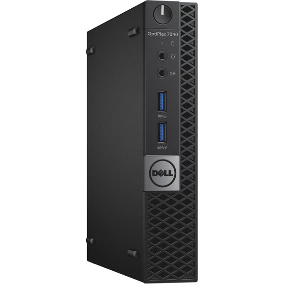 Dell Optiplex 7040 MicroTower 8GB 256GB SSD Intel Core i5-6500T X4 2.5GHz, Black (Scratch and Dent)