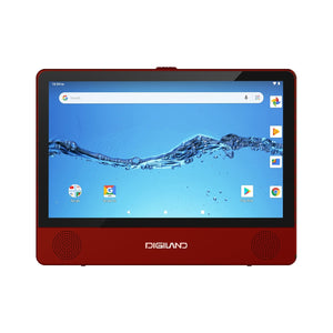 "Digiland DL9003 2-in-1 Android Tablet + DVD Player - Quad-Core 1.3GHz 1GB 16GB 9"" Touch- Burgundy"