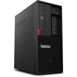Lenovo ThinkStation P330 Gen 2 Tower Workstation 16GB 256GB SSD Win10, Black (Certified Refurbished)