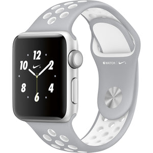 Apple Watch Nike+ Series 3 38mm Smartwatch (GPS), Silver Aluminum Case With White Nike Sport Band
