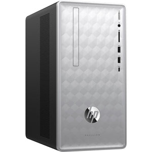 HP Pavilion 590-p0030 8GB 1TB Intel Core i3-8100 X4 3.6GHz Win10, Silver (Certified Refurbished)