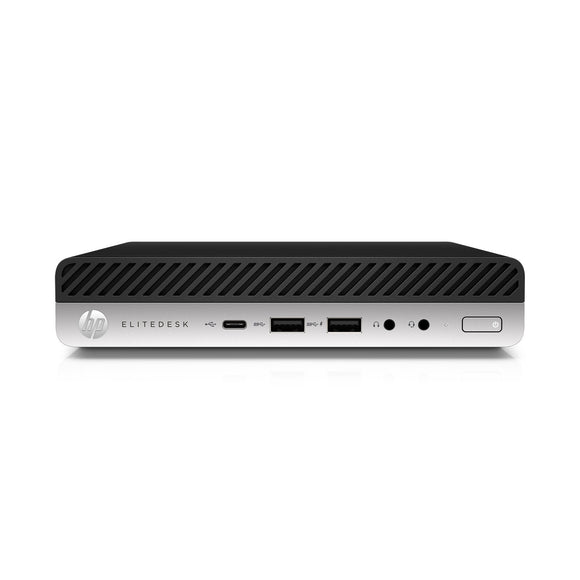 HP EliteDesk 800 G3 Mini Intel Core i5-7500 X4 3.4GHz 8GB 256GB SSD, Black (Certified Refurbished)