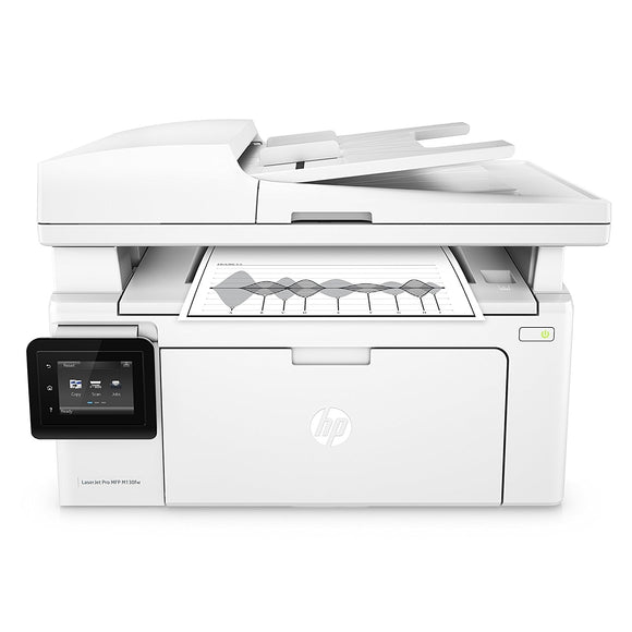 HP LaserJet Pro M130fw All-in-One Monochrome Laser Printer, White