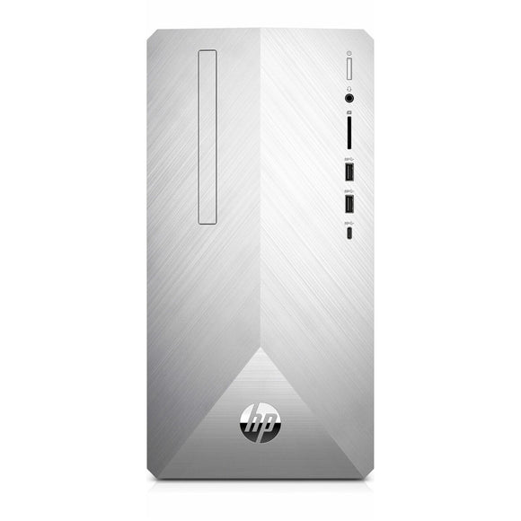 HP Pavilion 590-P0109 MiniTower 12GB 2TB AMD A12-9800 X4 3.8GHz, Silver (Certified Refurbished)