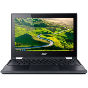 "Acer Chromebook C738T-C44Z 11.6"" Touch 4GB 16GB Intel Celeron N3150, Black (Refurbished)"