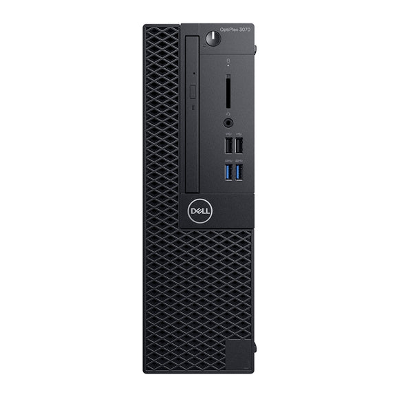 Dell Optiplex 3070 SFF 16GB 256GB SSD Intel Celeron G4930 X2 3.2GHz, Black (Certified Refurbished)