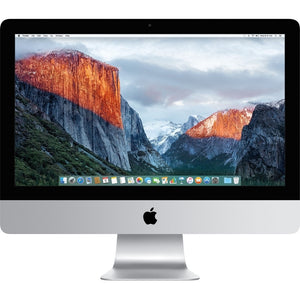 "Apple iMac MK452LL/A 21.5"" 8GB 1TB Intel Core i5-5675R X4 3.1GHz MacOSX, Silver (Refurbished)"