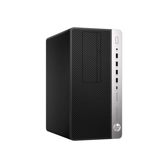 HP EliteDesk 705 G4 MicroTower 16GB 4TB AMD Ryzen 5 Pro 2600 X6 3.4GHz Win10, Black