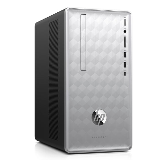 HP Pavilion 590-P0039 16GB 1TB AMD A12-9800 X4 3.8GHz Win10, Silver/Black (Certified Refurbished)