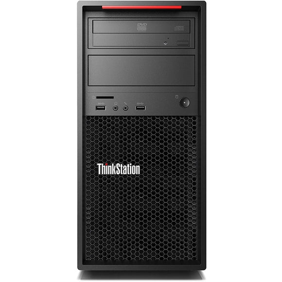 Lenovo ThinkStation P520c Tower 8GB 256GB SSD Intel Xeon W-2123 Win10, Black (Certified Refurbished)