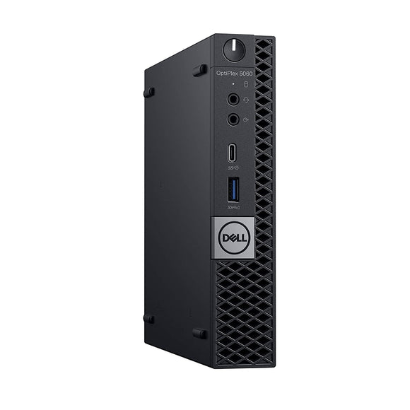 Dell Optiplex 5060 MicroTower 16GB 256GB SSD Intel Core i5-8500T X6 3.5GHz, Black (Refurbished)