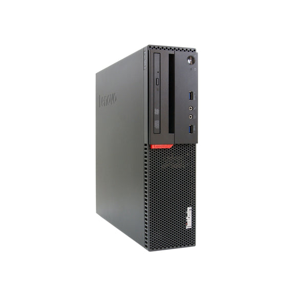 Lenovo ThinkCentre M900 SFF 8GB 256GB SSD Intel Core i5-6500 X4 3.2GHz Win10, black (Used-Good)
