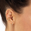 Baguette Huggie Earrings - Scream Pretty