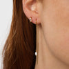 Crystal Droplet Threader Earrings