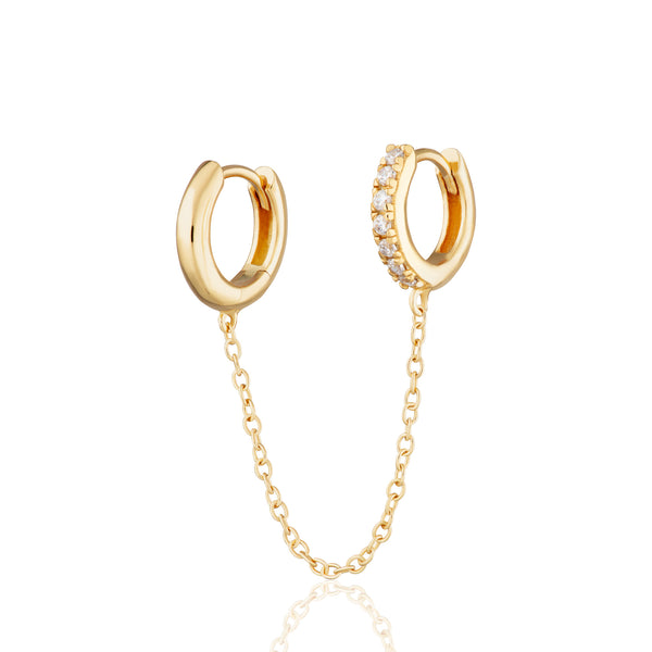 Chain Linked Huggie Hoop Earring (Single Earring)