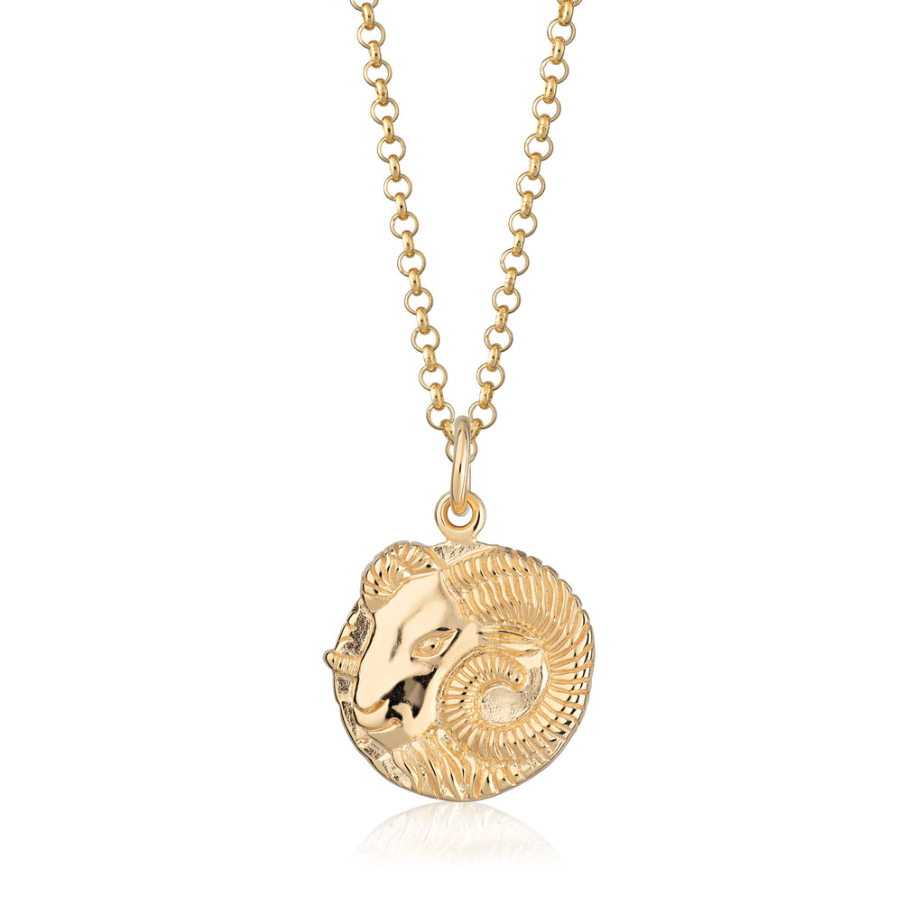Aries Zodiac Pendant Necklace