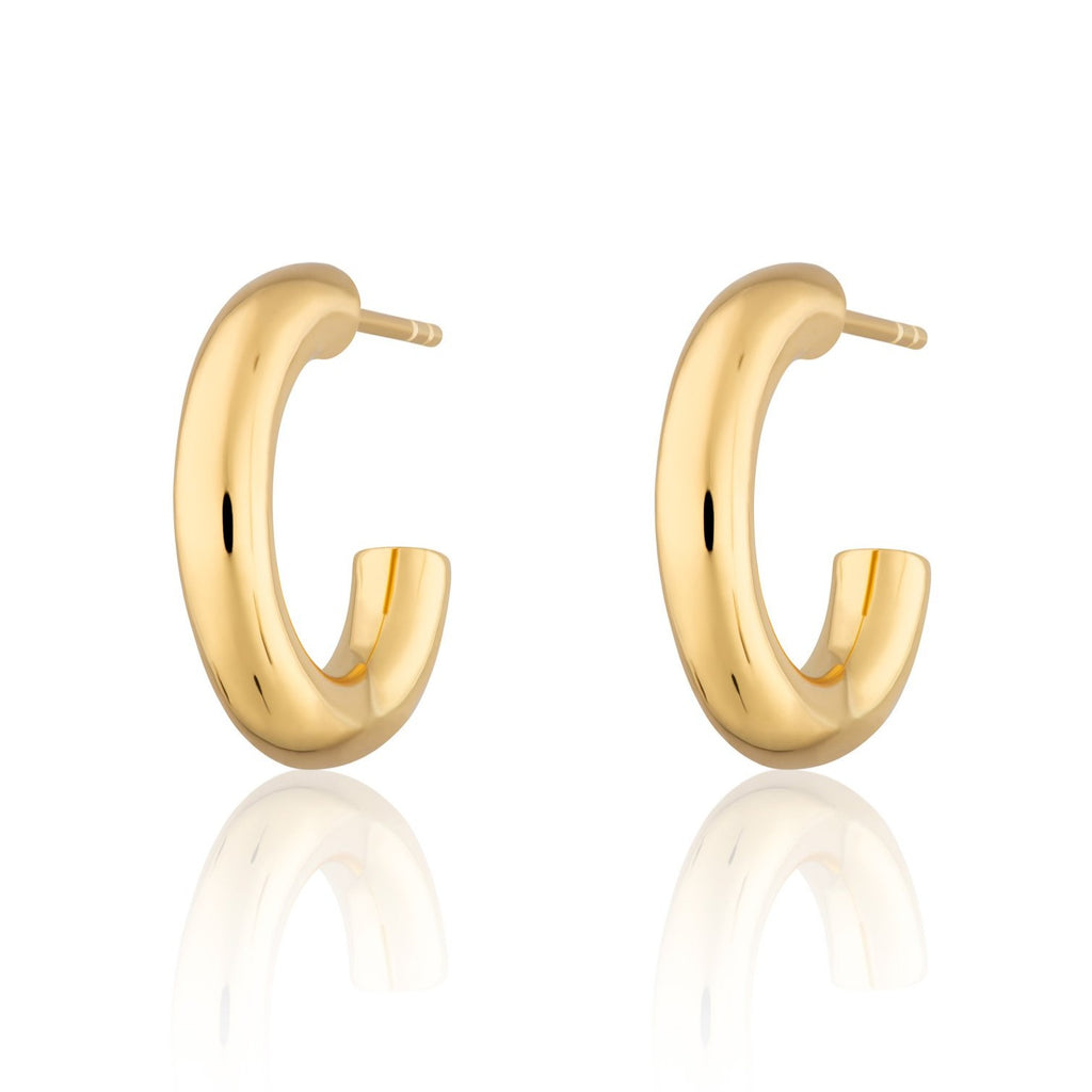 Chunky Hoop Stud Earrings