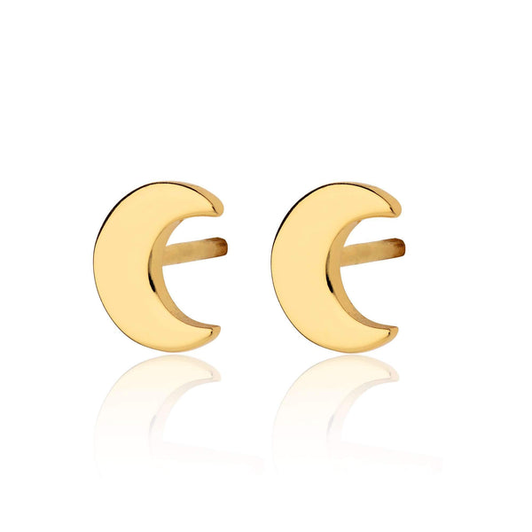 Crescent Moon Stud Earrings - Scream Pretty
