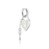 Heart Padlock and Key Huggie Hoop Earring (Single Earring)
