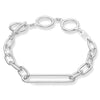 Oval Chain Bracelet with T-Bar Clasp - Scream Pretty