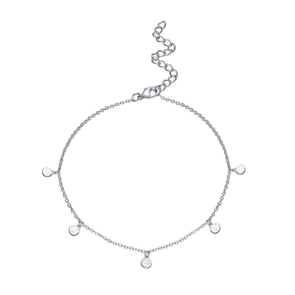 Anklet with Hammered Discs