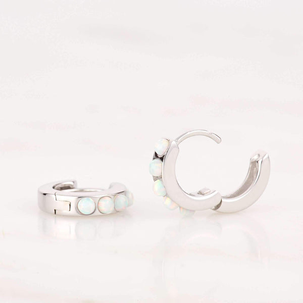 Opal Huggie Hoop Earrings - Scream Pretty