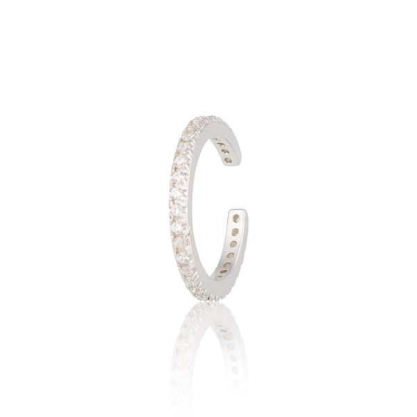 Slim Sparkling Ear Cuff, Single Ear Cuff - Scream Pretty