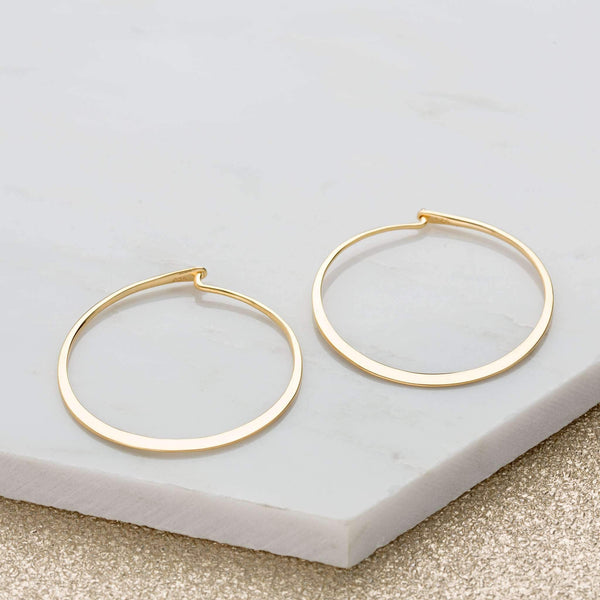 Flat Hoop Earrings - Scream Pretty