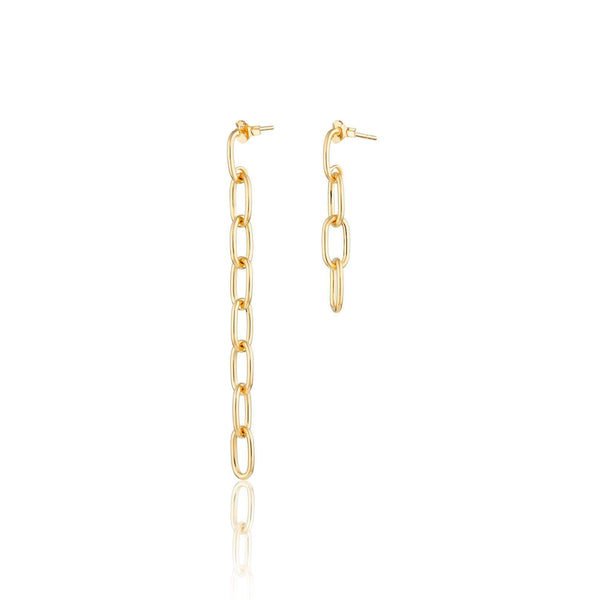 Mismatched Chain Stud Earrings - Scream Pretty