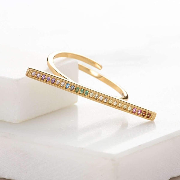 Rainbow Bar Ring - Scream Pretty