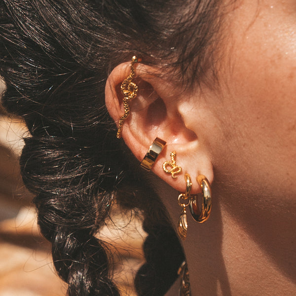 Wide Ear Cuff, Single Ear Cuff
