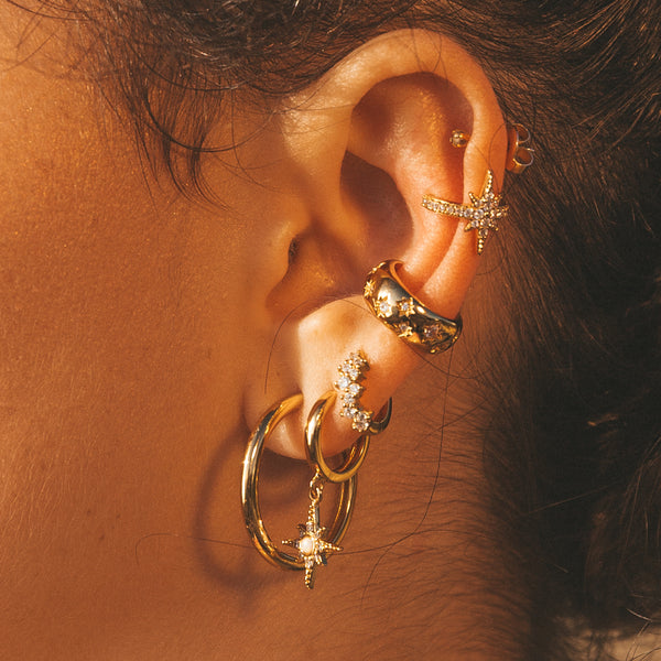Stardust Huggie Hoop Earrings