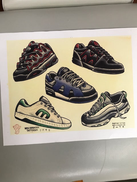 Ben Verhoek Skate Shoe Flash Sheet
