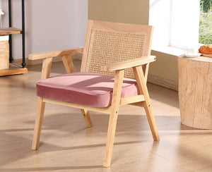 Pink Retro Accent Chair
