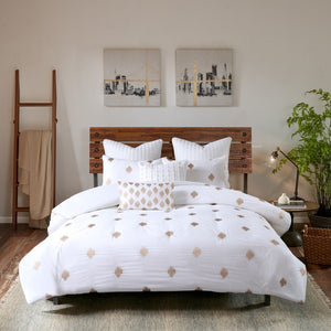 Queen Embroidered Duvet Cover