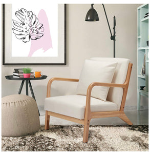 Wooden Modern Accent Chair