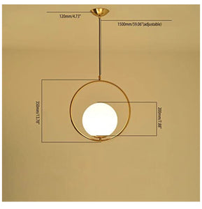 Round Gold Pendant Light